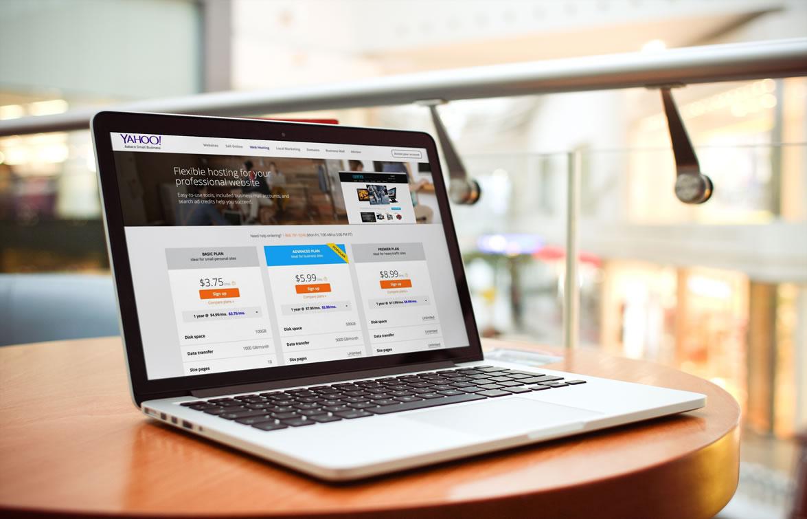 Yahoo web hosting Packages